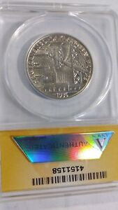 1936 S  U.S. BAY BRIDGE 50C GRADED MS 62 BY ANACS
