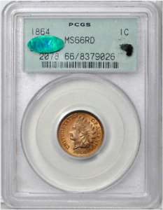 Click now to see the BUY IT NOW Price! 1864 1C MS66 RED PCGS CAC BRONZE INDIAN HEAD CENT OGH