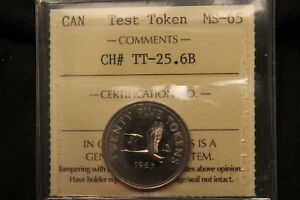 Click now to see the BUY IT NOW Price!  1965 CANADA 25 CENTS TEST TOKEN CH TT 25.6B REEDED EDGE ICCS MS 65 BV$1K