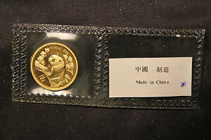 Click now to see the BUY IT NOW Price! 1997 CHINA GOLD PANDA 10 YUAN 1/10 OUNCE MINT SEALED. FROSTED LEG GAP SMALL DATE