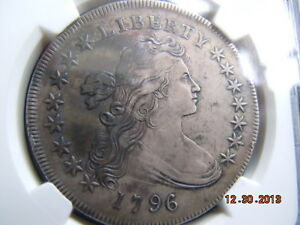 1796 DRAPED BUST DOLLAR NGC XF DETAILS TOUGH DATE LOW MINTAGE