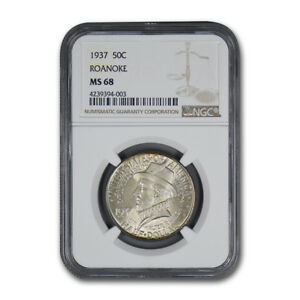 Click now to see the BUY IT NOW Price! 1937 ROANOKE COMMEMORATIVE HALF DOLLAR MS 68 NGC   SKU170871