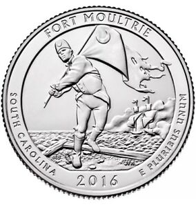 UNITED STATES 2016 P FORT MOULTRIE QUARTER SC US COIN