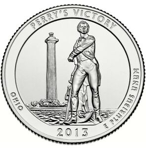 UNITED STATES 2013 P PERRYS VICTORY MEMORIAL QUARTER OH US COIN