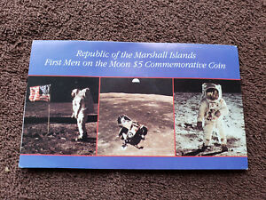 $5 COMMEMORATIVE COIN. FIRST MEN ON THE MOON