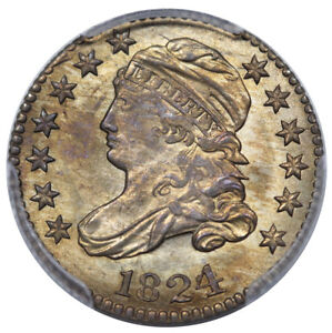 Click now to see the BUY IT NOW Price! 1824/2 BUST DIME JR 1 PCGS MS 64 PREMIUM QUALITY