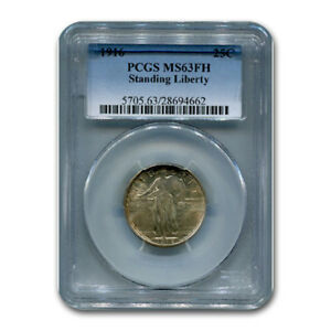 Click now to see the BUY IT NOW Price! 1916 STANDING LIBERTY QUARTER MS 63 PCGS  FH    SKU158107