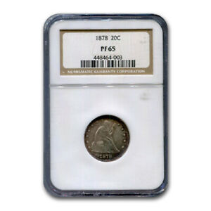 Click now to see the BUY IT NOW Price! 1878 TWENTY CENT PIECE PF 65 NGC   SKU180716
