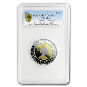 Click now to see the BUY IT NOW Price! 2001 GIBRALTAR TRI METAL 5 CROWN PR 68 PCGS   SKU179088