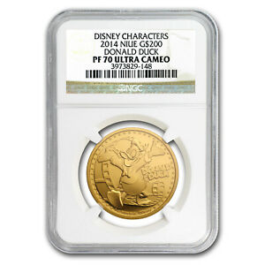 Click now to see the BUY IT NOW Price! 2014 NIUE 1 OZ PROOF GOLD $200 DISNEY DONALD DUCK PF 70 NGC UCAM   SKU179087