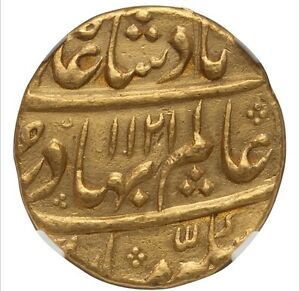 Click now to see the BUY IT NOW Price! GOLD MUGHAL EMPIRE. SHAH ALAM BAHADUR GOLD MOHUR AH 1121/3 AU NGC CERTIFICATION