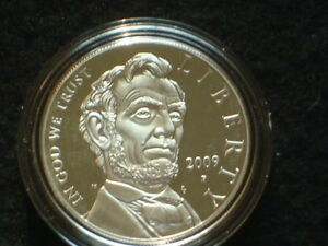 2009 ABRAHAM LINCOLN PROOF SILVER DOLLAR COMMEMORATIVE IN OGP WITH COA