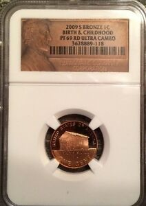2009 S BRONZE LINCOLN CENT BIRTH & CHILDHOOD NGC PF 69 RD ULTRA CAMEO