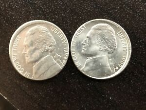 TWO OFF CENTER 1999 D JEFFERSON NICKELS
