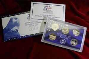2006 UNITED STATES MINT CLAD STATE QUARTERS PROOF SET IN MINT PACKAGE & COA