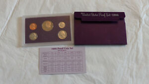 1986 US MINT PROOF SET W/BOX    CHECK IT OUT   1