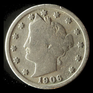 1906 P LIBERTY NICKEL SHIPS FREE. BUY 5 FOR $2 OFF