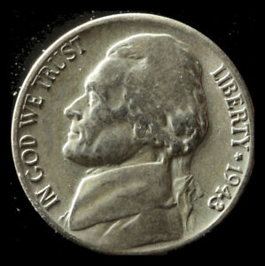 1943 S 35  SILVER WAR NICKEL SHIPS FREE. BUY 5 FOR $2 OFF