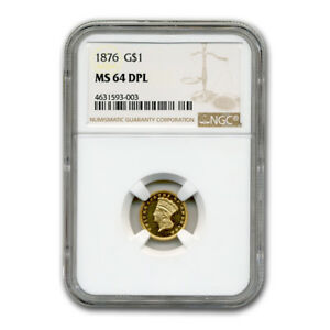 Click now to see the BUY IT NOW Price! 1876 $1 INDIAN HEAD GOLD MS 64 NGC  DPL    SKU182026