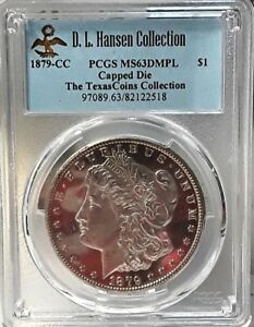 Click now to see the BUY IT NOW Price! 1879 CC CAPPED DIE MORGAN DOLLAR PCGS MS 63DMPL. EX;  D.L HANSEN SET VAM 3