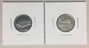 CANADA 2017 NEW 2 X 5 CENTS 100  FULL KIT  UNC DIRECTLY FROM MINT ROLL