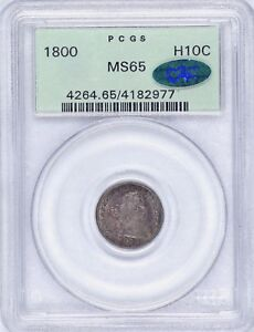Click now to see the BUY IT NOW Price! GEM 1800 H10C MS65 OGH PCGS LIBEKTY TONED COLOR