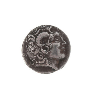 336 323 BC SILVER PLATED DRACHM  ANCIENT ALEXANDER III THE GREAT GREEK COINS