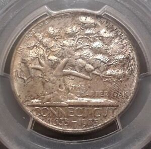 Click now to see the BUY IT NOW Price! 1935 50C CONNECTICUT COMMEMORATIVE HALF DOLLAR MS66 PCGS