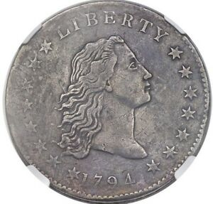 Click now to see the BUY IT NOW Price! 1794 FLOWING HAIR DOLLAR NGC VF DETAILS B 1 BB 1 R 4  PROVENANCE 1885