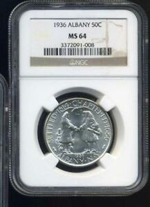 1936 ALBANY COMMEMORATIVE HALF DOLLAR NGC MS64 INV1448