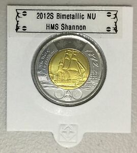 CANADA 2012 NEW 2 DOLLAR TOONIES HMS SHANNON  BU DIRECTLY FROM MINT ROLL