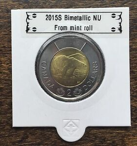 CANADA 2015 NEW 2 DOLLAR TOONIES  BU DIRECTLY FROM MINT ROLL