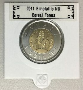 CANADA 2011 NEW 2 DOLLAR TOONIES BOREAL FOREST  BU DIRECTLY FROM MINT ROLL