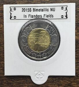 CANADA 2015 NEW 2 DOLLAR TOONIES IN FLANDERS FIELDS  BU DIRECTLY FROM MINT ROLL