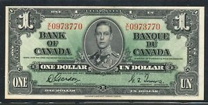 Click now to see the BUY IT NOW Price! 1937 $1 BANK OF CANADA ONE DOLLAR. AU /UNC. SERIAL  XL 0973770. BC 21C