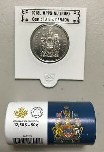 CANADA 2018 NEW 50 CENTS COAT OF ARMS OF CANADA  BU DIRECTLY FROM MINT ROLL