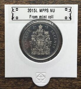 CANADA 2015 NEW 50 CENTS COAT OF ARMS OF CANADA  BU DIRECTLY FROM MINT ROLL