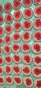 CANADA 25 CENT 2015 RED POPPY REMEMBER SOUVENIR UNCIRCULATED COIN