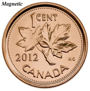 CANADA 2012 NEW 1 CENT MULTI PLY PLATED STEEL MAGNETIC  BU FROM ROLL