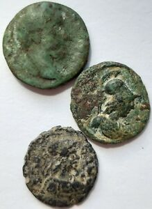 ROMAN PROVINCIAL COIN. LOT OF 3 COINS