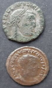 ROMAN BRONZE COINS. LOT OF 2 COINS OF LICINIUS I  308 324