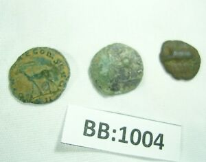 THREE ROMAN COINS   ONE WITH ANTELOPE   BB1004