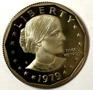 1979 S $1 SUSAN B ANTHONY DOLLAR 18OTT1217 DGC PROOF ONLY 50 CENTS FOR SHIPPING