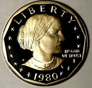 1980 S $1 SUSAN B ANTHONY DOLLAR 18OTT1217 DGC PROOF ONLY 50 CENTS FOR SHIPPING