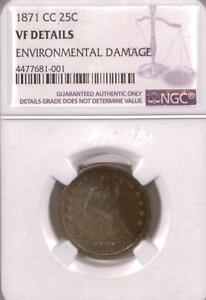 Click now to see the BUY IT NOW Price! 1871 CC SEATED LIBERTY QUARTER | NGC VF | CARSON CITY |  |  M81 001