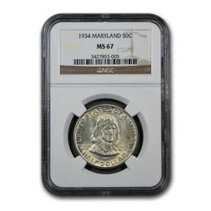 Click now to see the BUY IT NOW Price! 1934 MARYLAND TERCENTENARY HALF DOLLAR MS 67 NGC   SKU158842