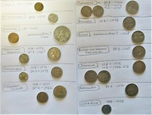 CENTRAL AND SOUTH AMERICAN COINS   MISCELLANEOUS LOT OF 21   1953 TO 1986