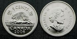 CANADA 2006P PROOF LIKE FIVE CENT NICKEL