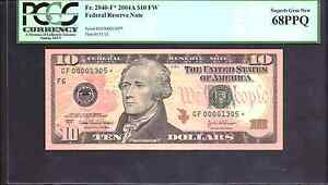 FR.2040 F  2004A $10 FW FEDERAL RESERVE STAR NOTE  PCGS 68PPQ