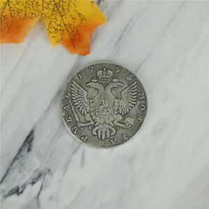BRASS 1755 RUSSIAN ANTIQUE PLAYING OLD SILVER COINS FOR HOLIDAY GIFT TSCA